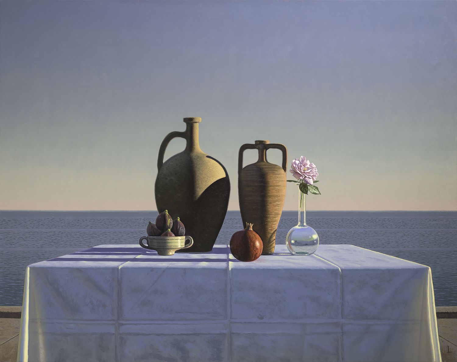 David Ligare (b. 1945), Still Life with Figs, Pomegranate and Rose, 2018