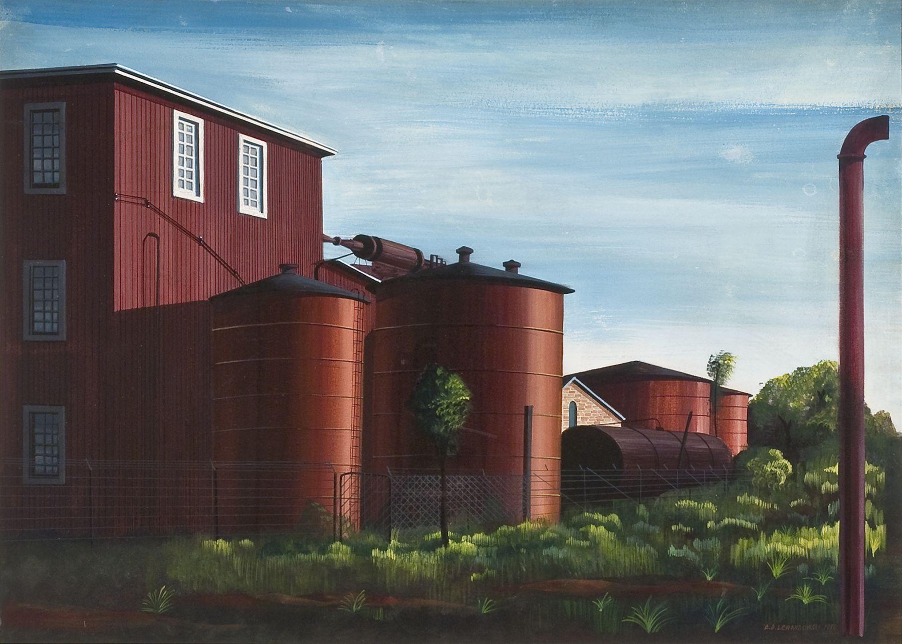 EDMUND D. LEWANDOWSKI (1914–1998), Farm Buildings, 1940