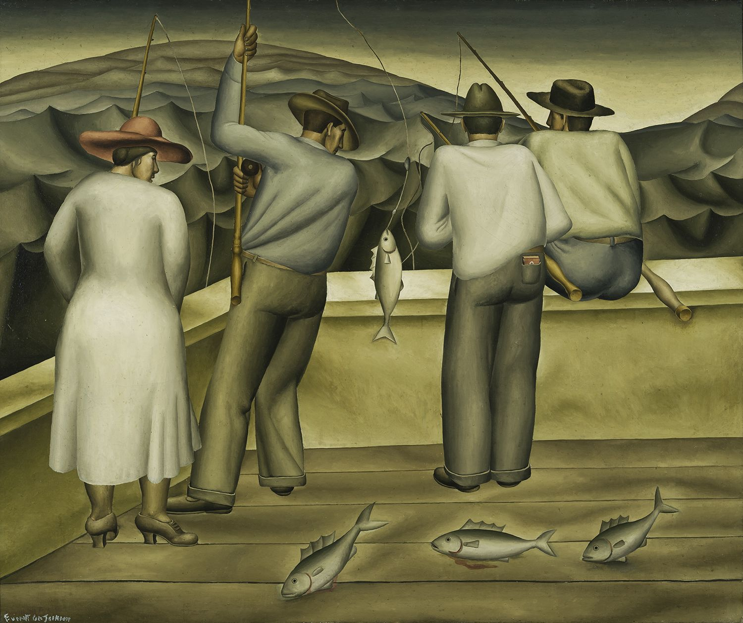 The Fishing Barge, c. 1933, Oil on canvas, 37 1/2 x 44 1/2 in.
