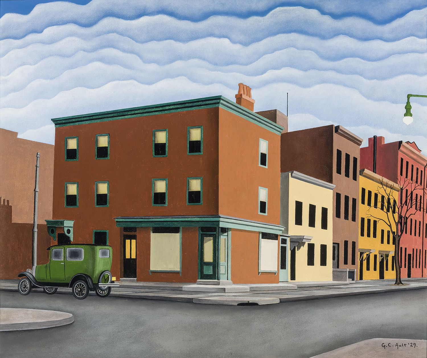 GEORGE COPELAND AULT (1891–1948), Morning in Brooklyn, 1929. Oil on canvas, 20 x 24 in.