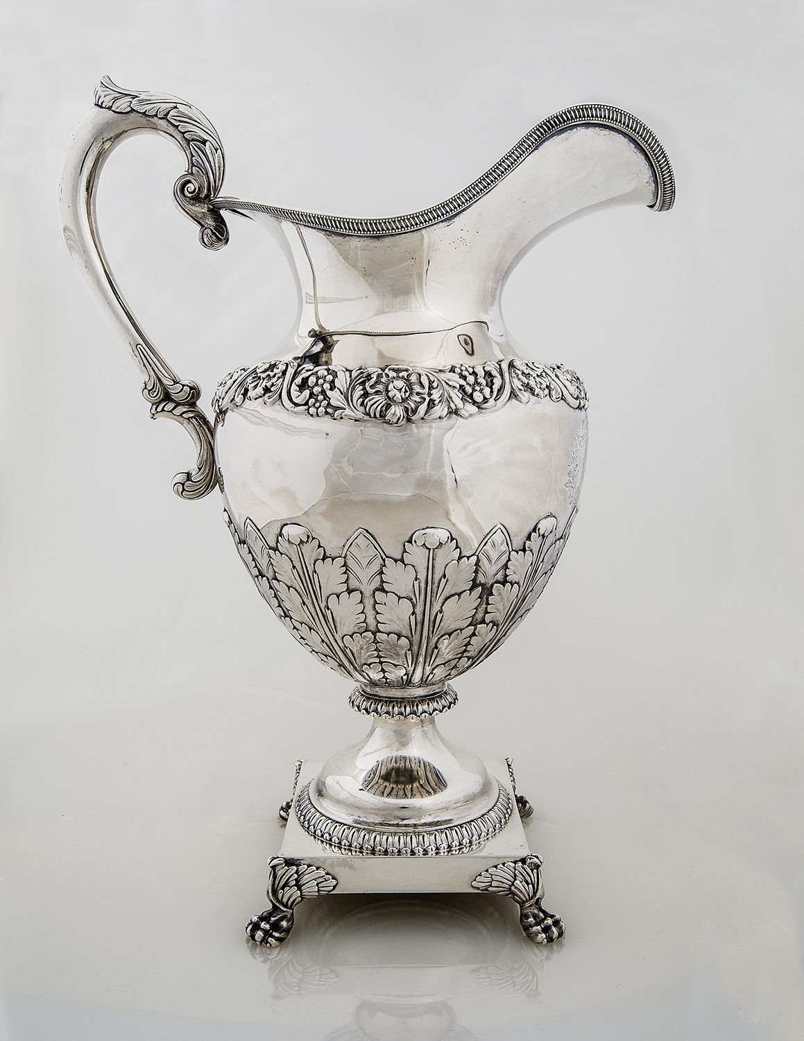 Monumental Ewer with Presentation Inscription to Mrs. John S. Barbour, 1832