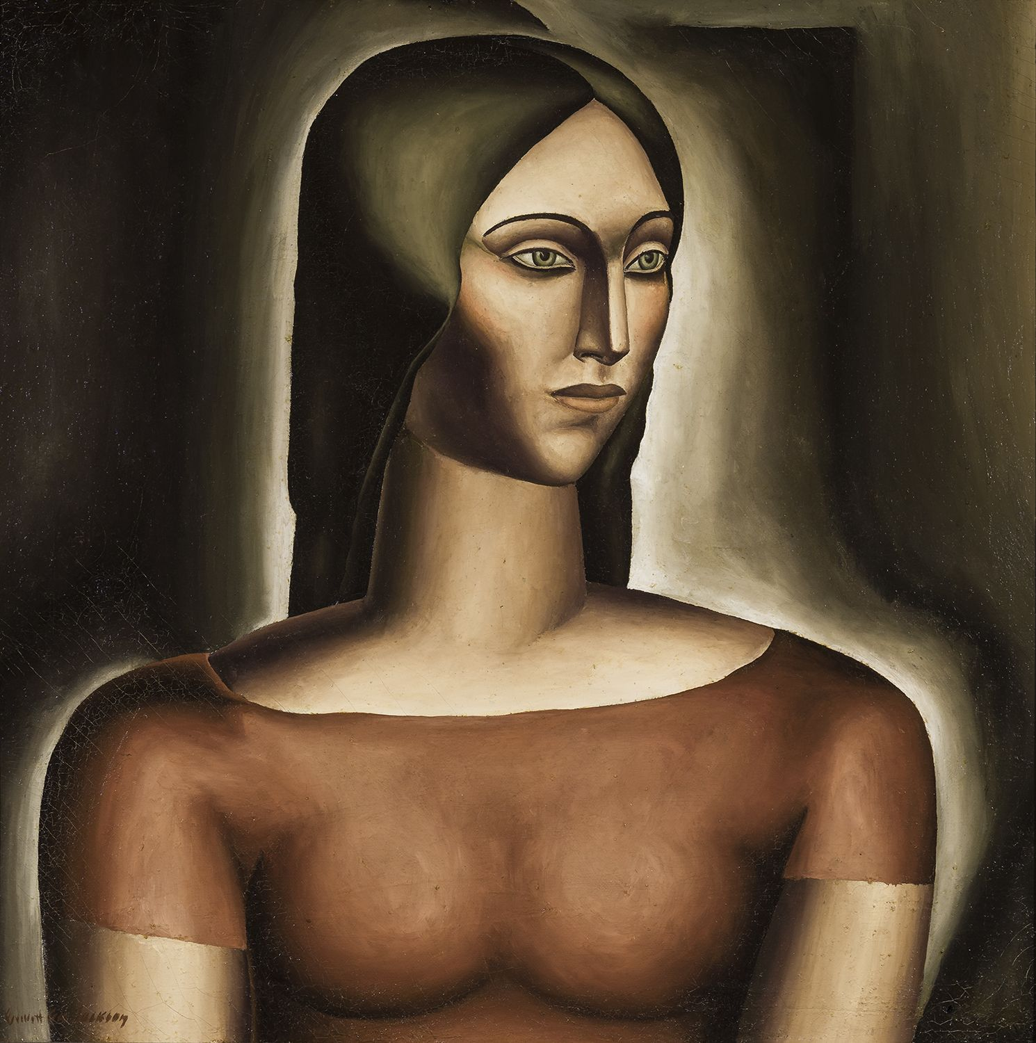 Head of a Woman, c. 1932, Oil on canvas, 20 1/8 x 20 3/16 in.