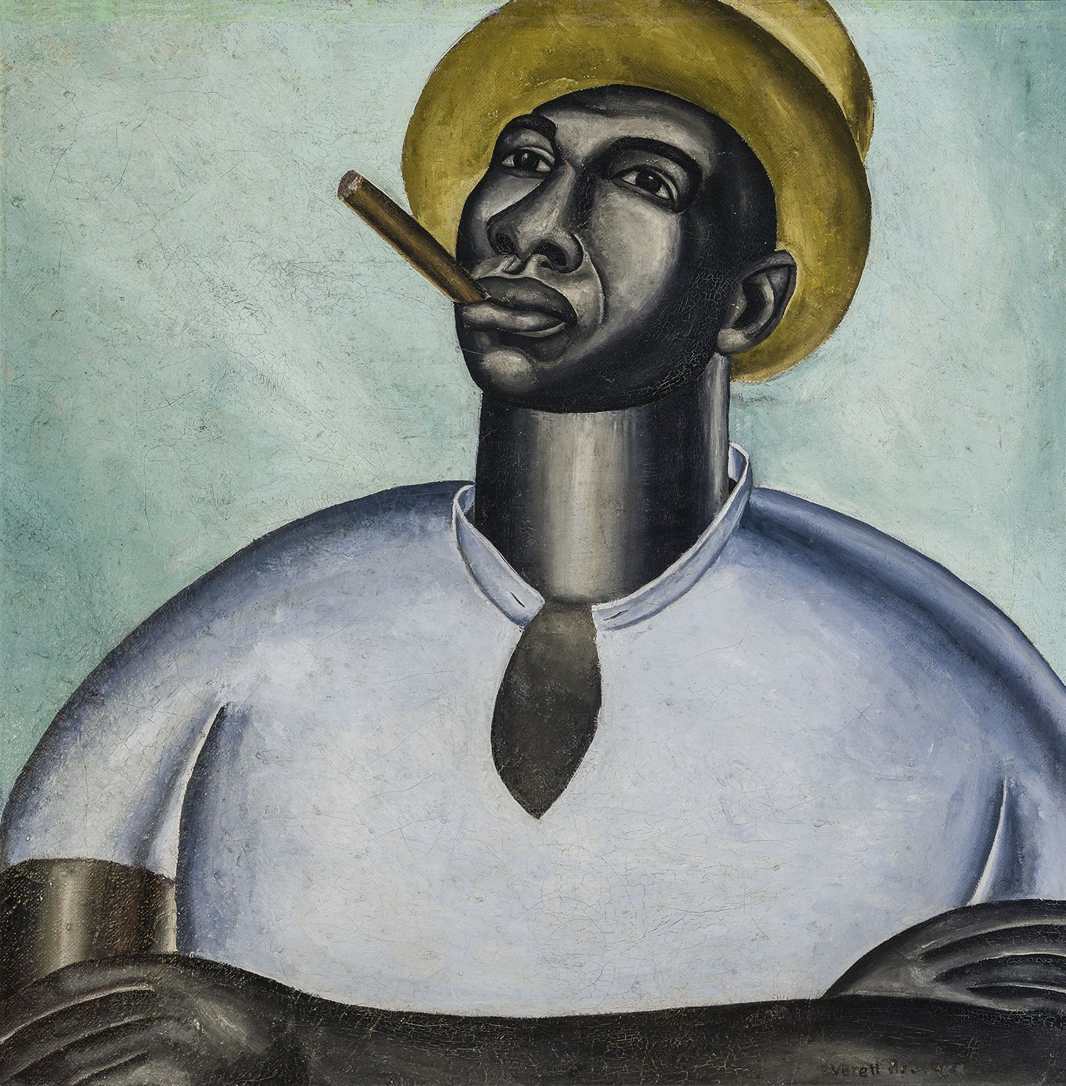 Big Jim, c. 1927, Oil on canvas, 23 3/4 x 23 3/4 in.