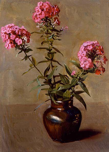 Still Life with Phlox in a Vase