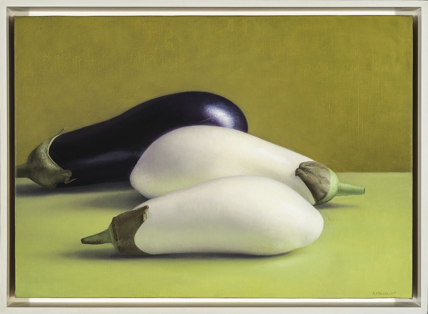 Amy Weiskopf (b. 1957), Two White Eggplants, 2015