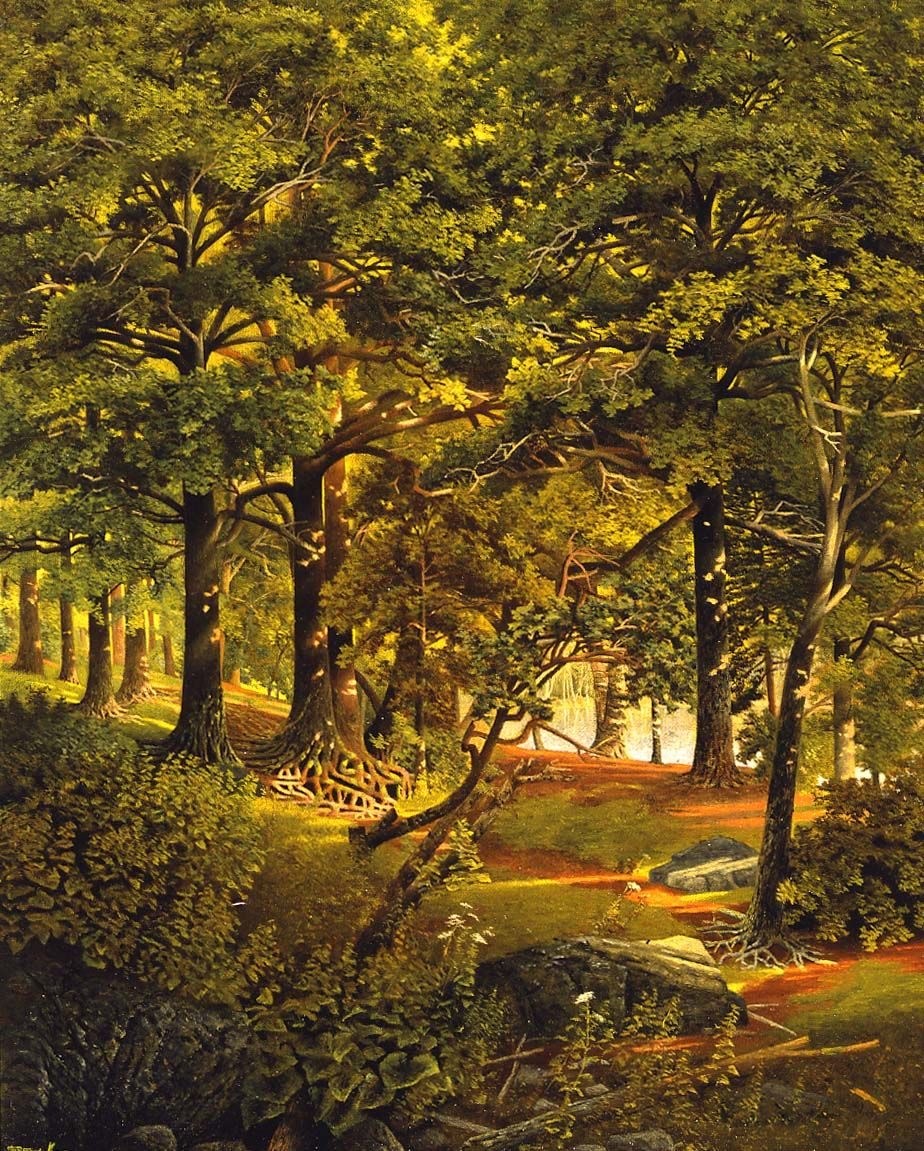 Forest with Glimpse of a River, about 1890–91