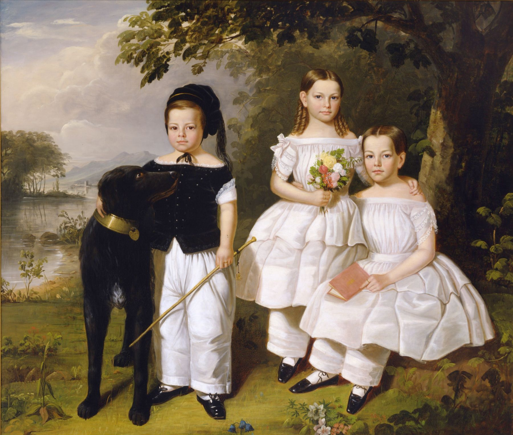 William R. Hamilton (1795-1879), The Three Odell Children, Newburgh, New York, about 1846-52
