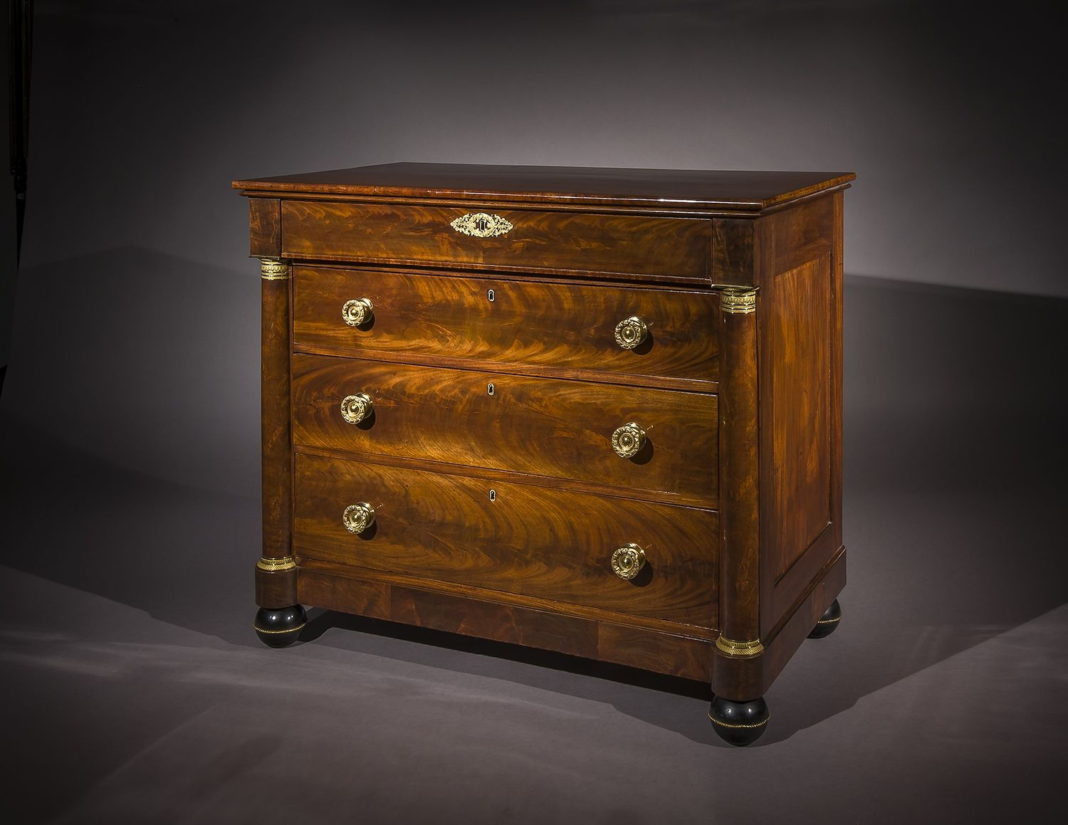 Chest of Drawers, about 1820