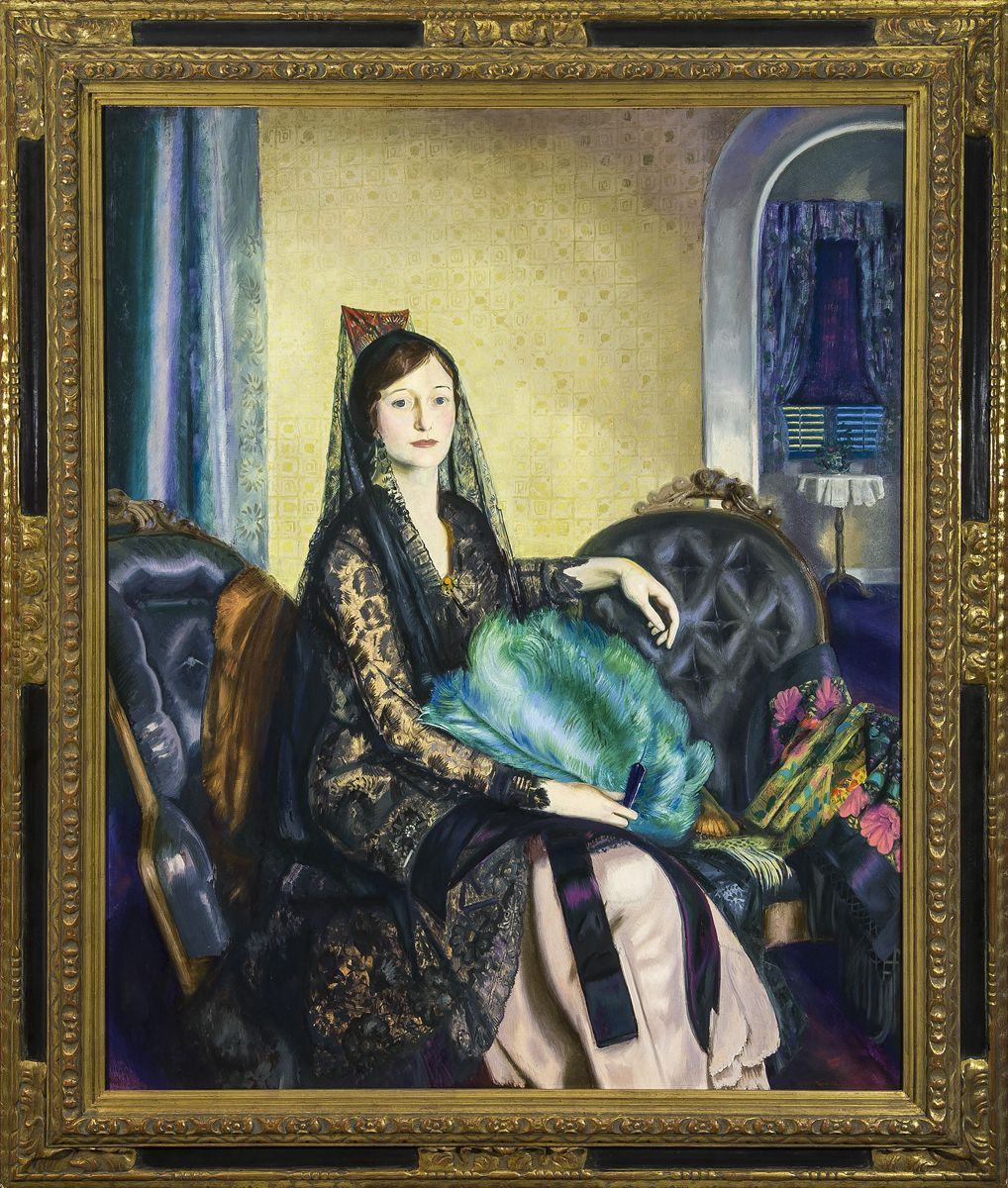 GEORGE WESLEY BELLOWS (1882–1925). Portrait of Elizabeth Alexander, 1924. Oil on canvas, 53 x 43 in.