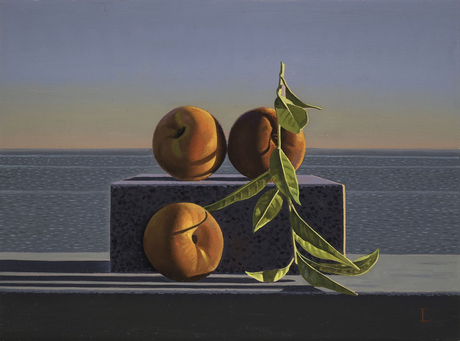 David Ligare (b. 1945), Still Life with Peaches and Leaves, 2018
