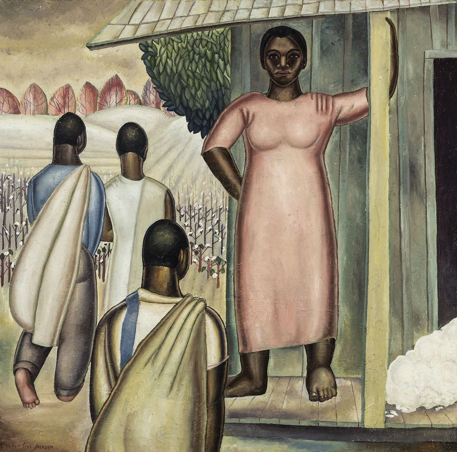 To Pick the Top Crop, 1932, Oil on canvas, 31 7/8 x 32 in.
