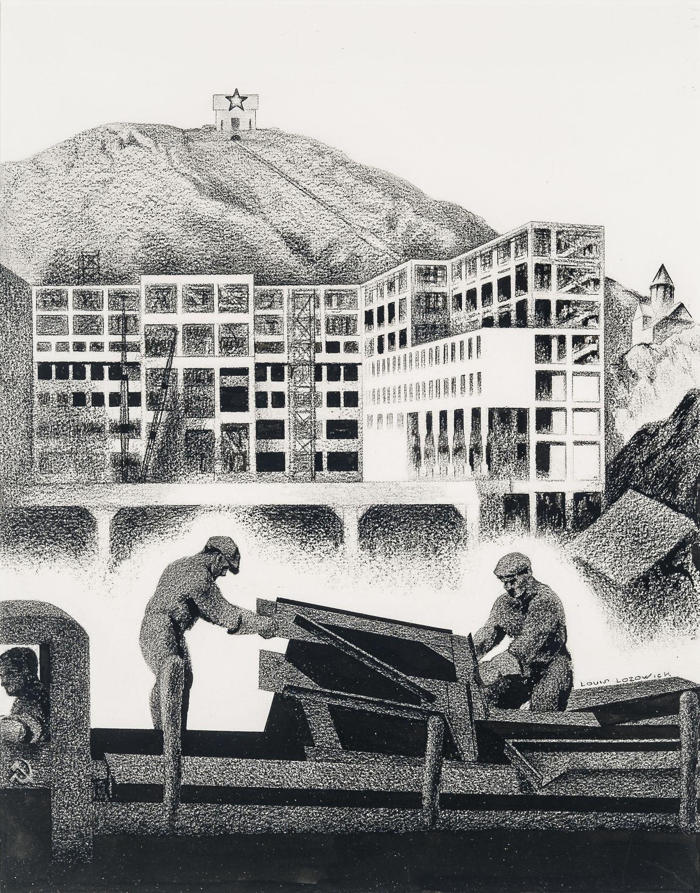 LOUIS LOZOWICK (1892–1973), Construction, 1933