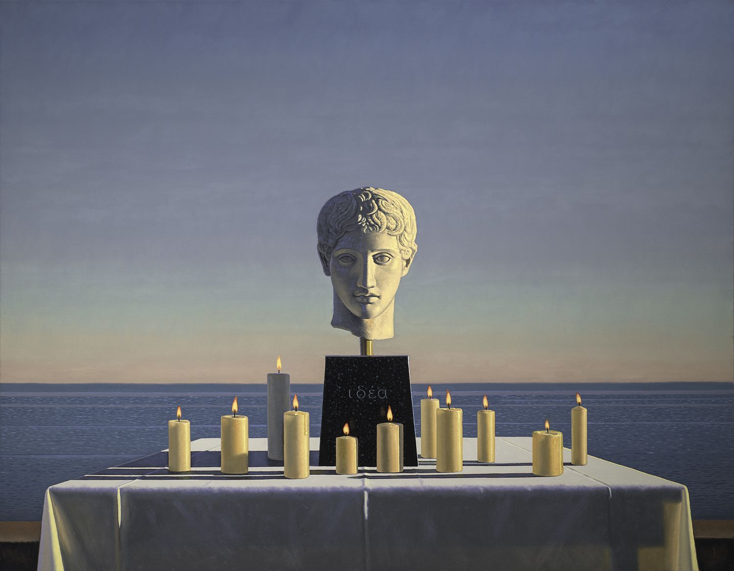 David Ligare (b. 1945), Still Life with Polykleitian Head and Candles (Idea), 2018