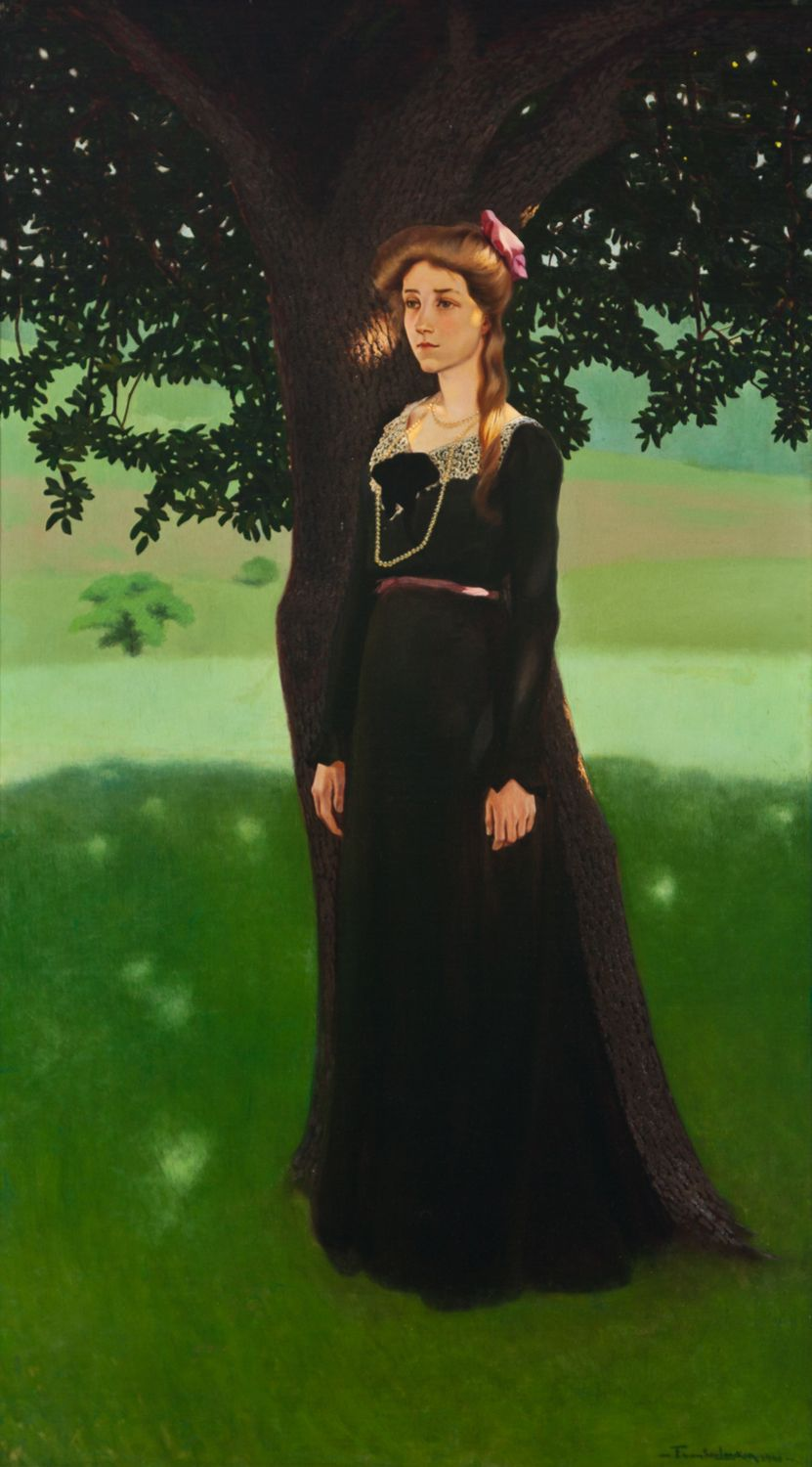Portrait of a Woman by a Tree, about 1900