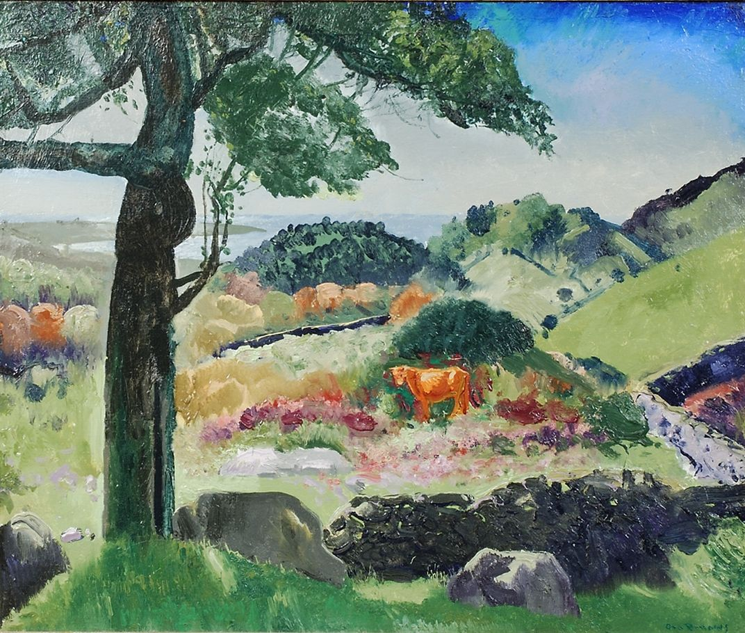 GEORGE WESLEY BELLOWS (1882–1925). The Tree, 1918. Oil on canvas, 19 7/8 x 24 1/8 in.