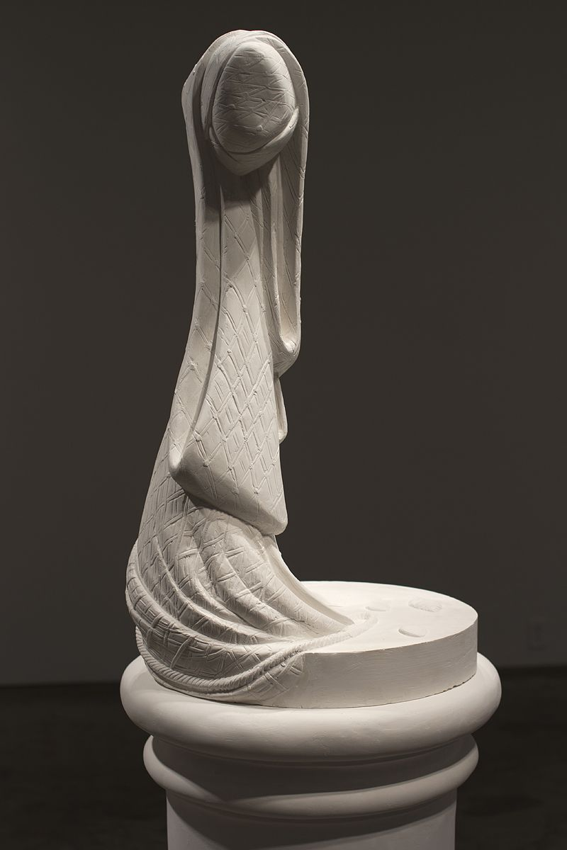 The Stand: Fisher Boy, 2013, Plaster, 68 x 20 x 20 in.