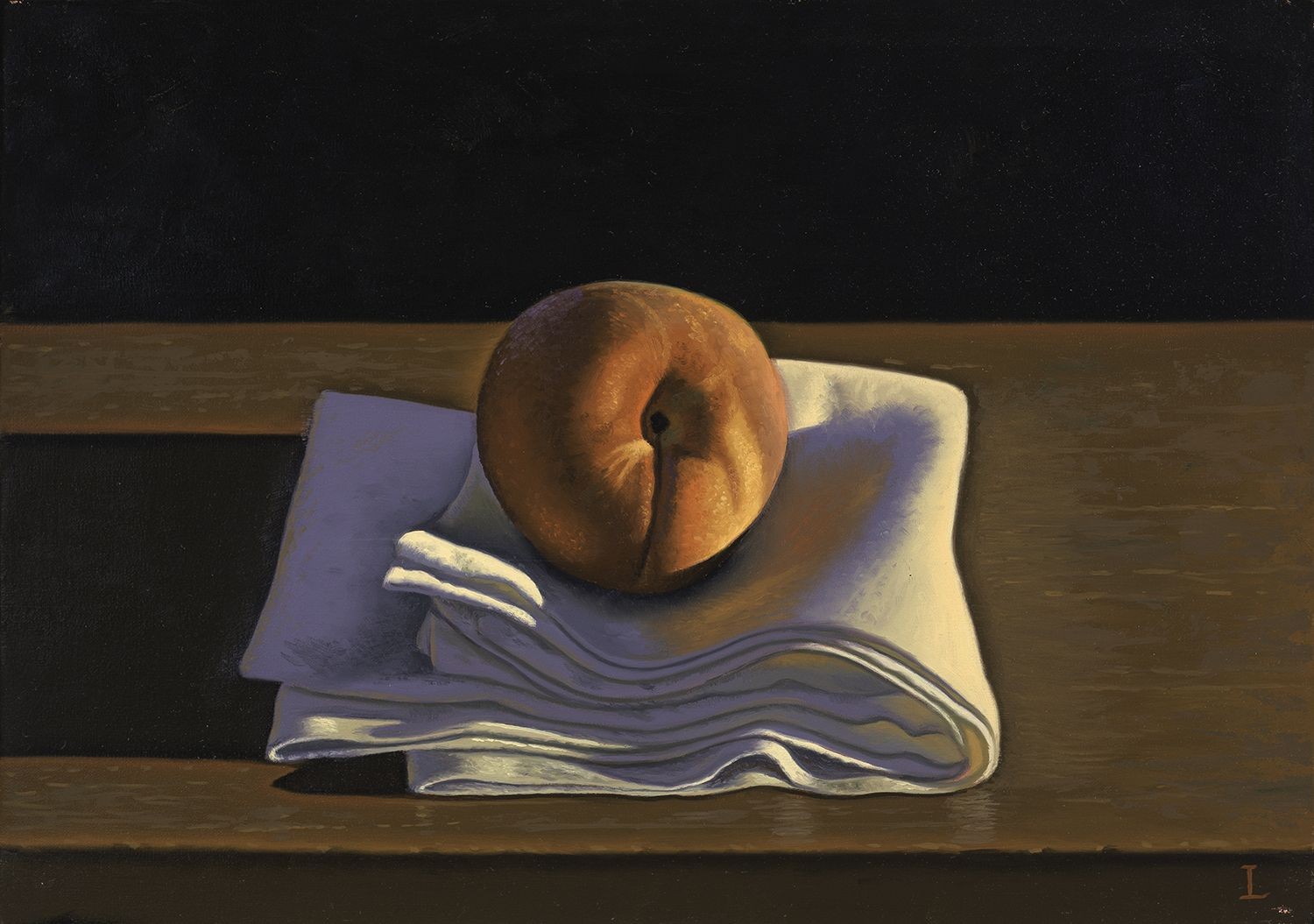 David Ligare (b. 1945), Still Life with Peach on Cloth, 2014