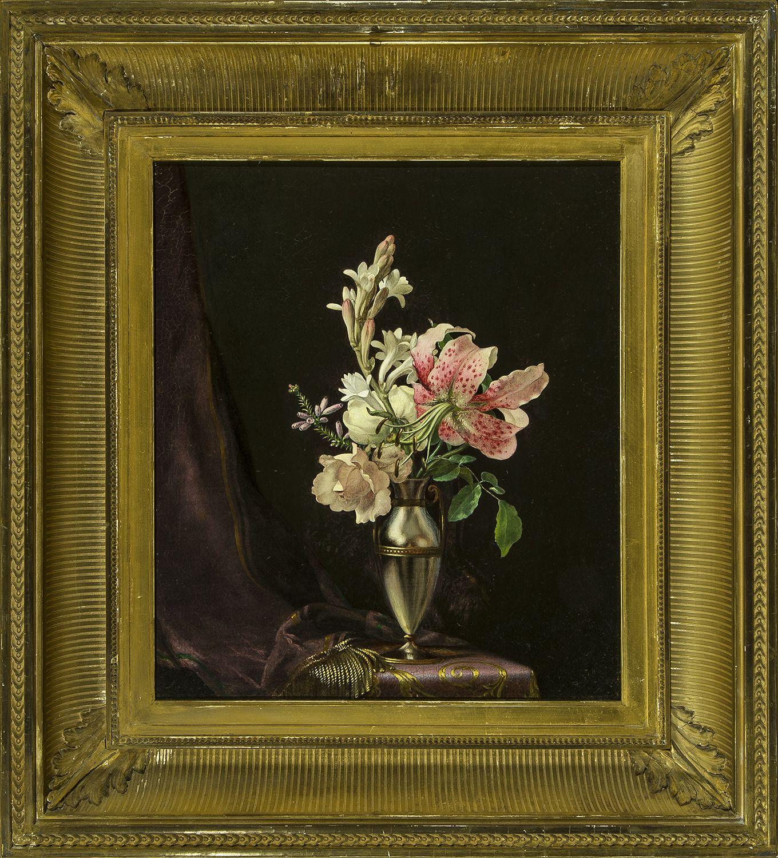 Martin Johnson Heade (1819-1904), Still Life with Flowers in a Vase, 1871