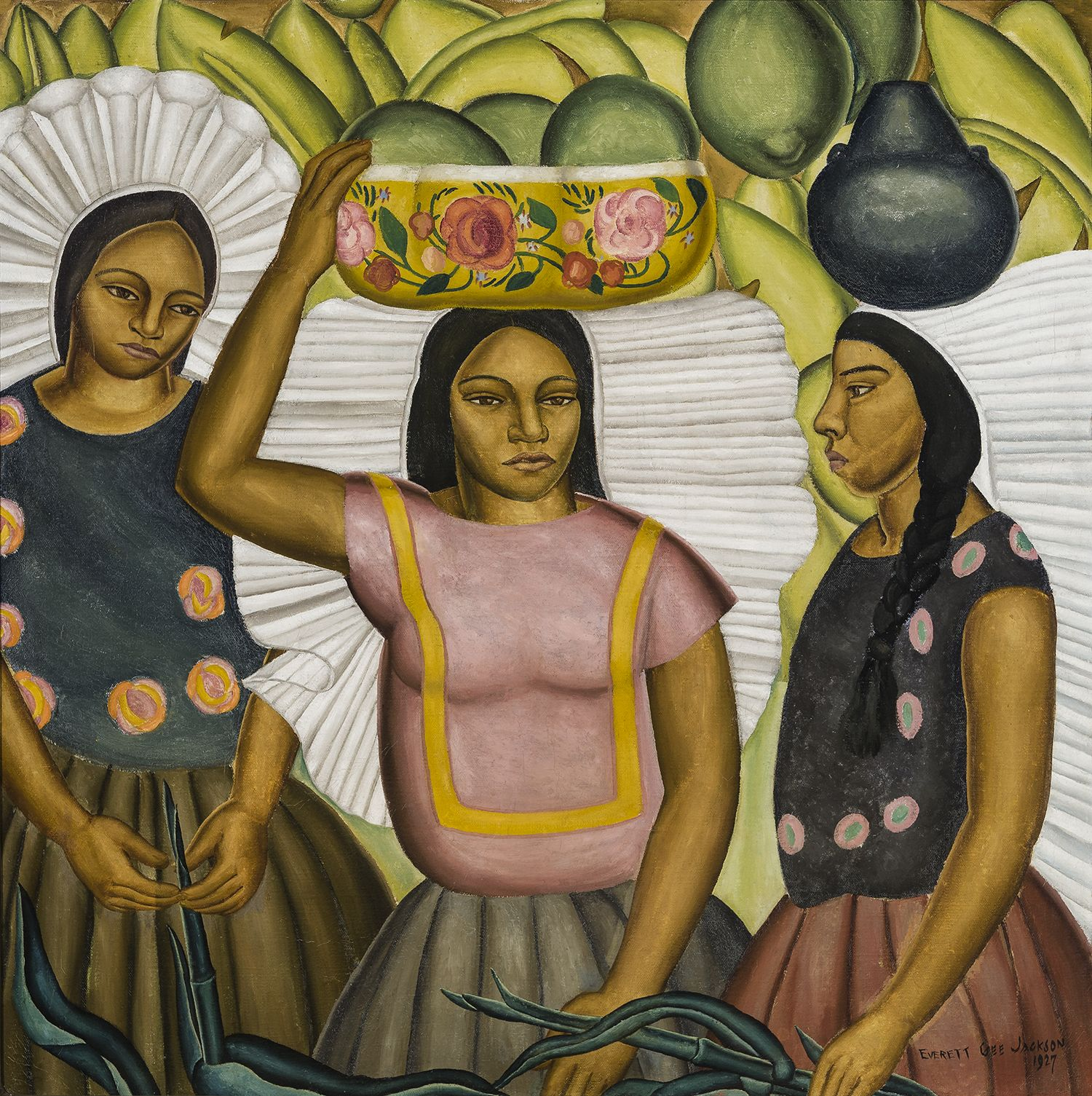 Tehuantepec Women, 1927, Oil on canvas, 32 x 32 in.