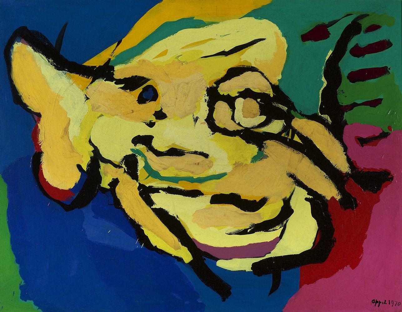 Karel Appel (1921-2006), The Flying Yellow Head, 1970