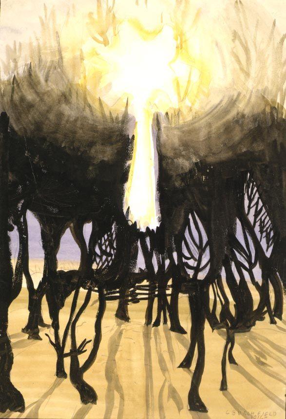 Charles Ephraim Burchfield (1893-1967), Sunlight in Forest, 1916
