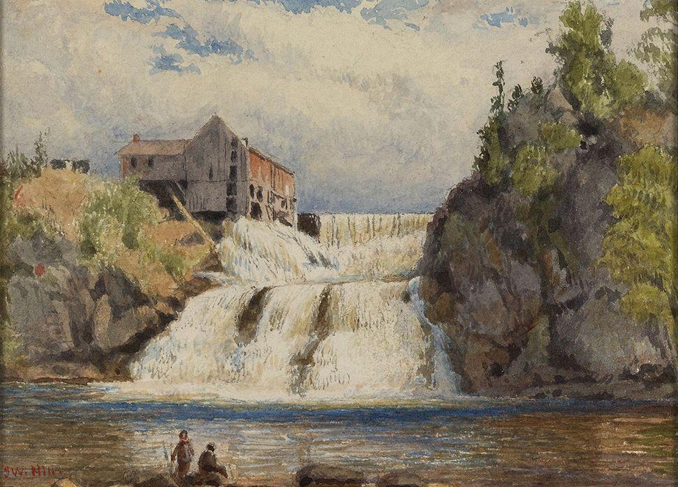 John William Hill (1812-1879), Goodrich Falls Near Jackson, White Mountains, 1850s