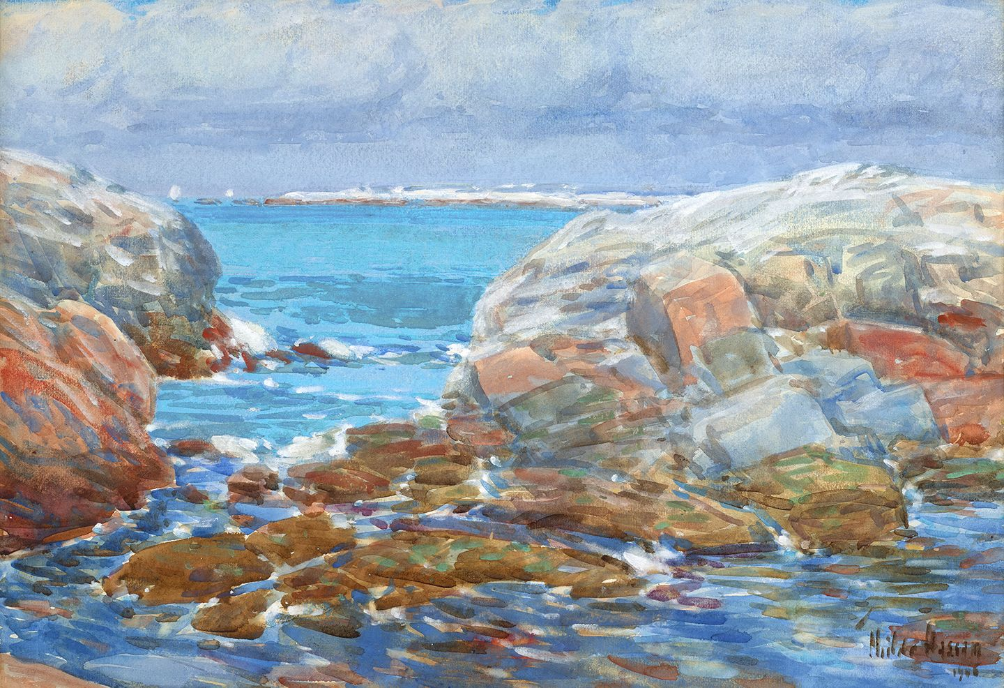 Frederick Childe Hassam (1859-1935), Isles of Shoals, Duck Island, 1906