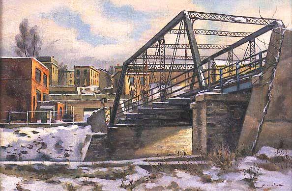 Giovanni Martino (1908-1998), Canal Bridge, 1940