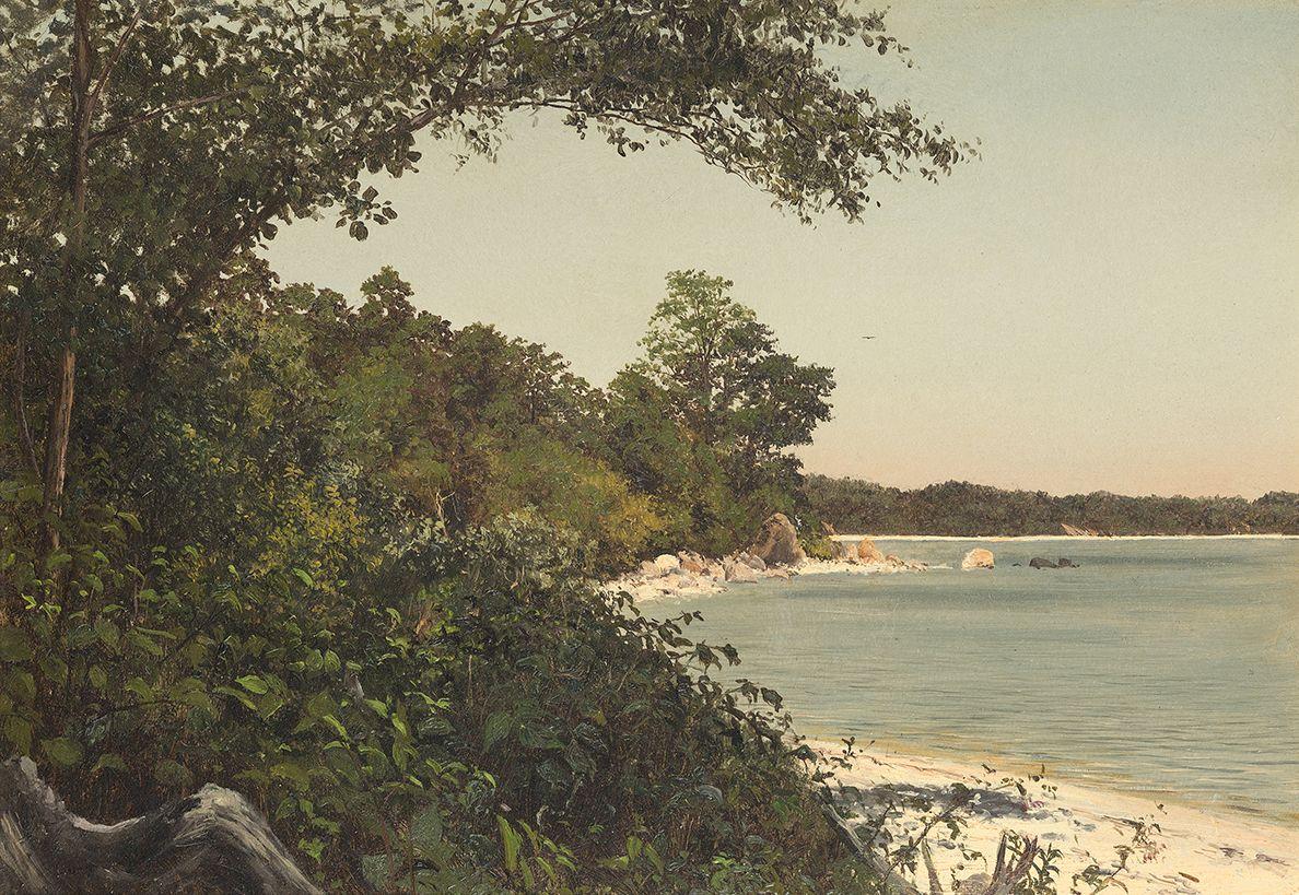 Lockwood de Forest (1850-1932), Tranquil Shore, 1874