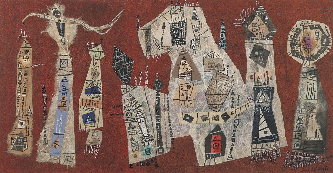 Ynez Johnston (b. 1920), Untitled (collage), 1954