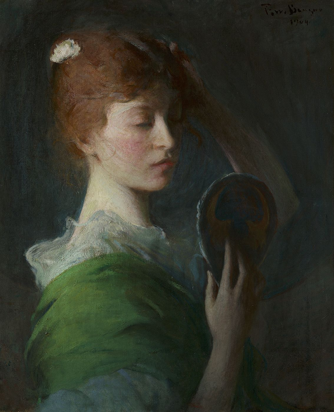 Frank Weston Benson (1862-1951), Mary Sullivan (Woman Looking in a Mirror), 1904