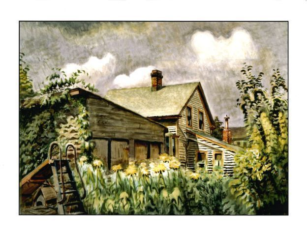 Charles Ephraim Burchfield (1893-1967)   , August Morn, 1933-49