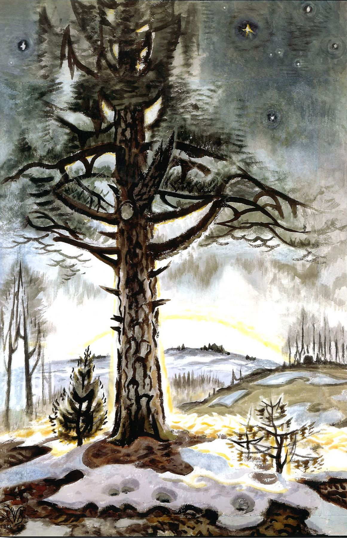 Charles Ephraim Burchfield (1893-1967)       , Late Winter Dawn, 1956-1965