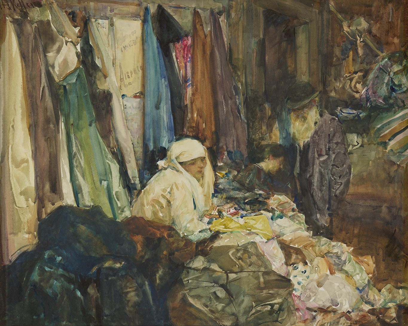 Arthur Keller (1866-1924), The Old Textile Shop, circa 1910