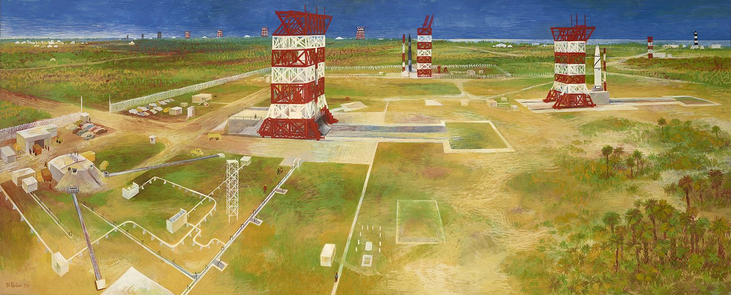 Bernard Perlin (1918-2014), The Countdown at Cape Canaveral, 1958