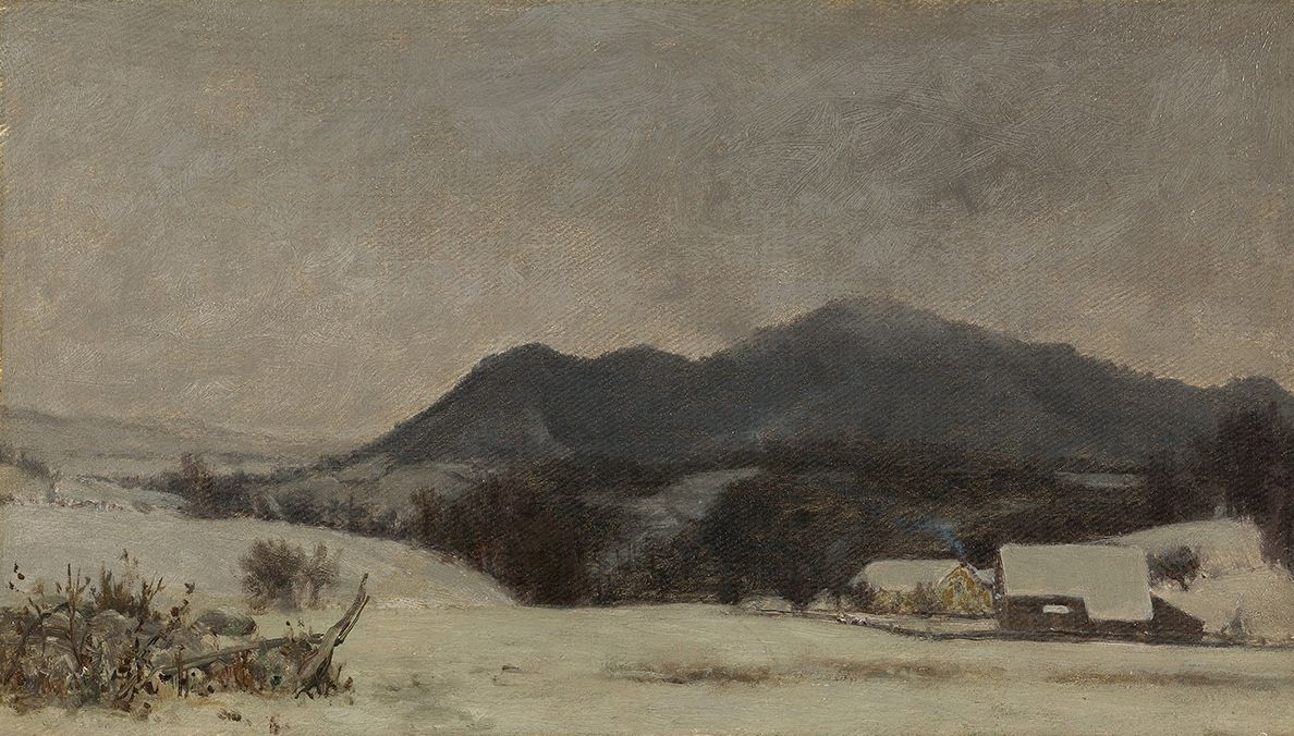 Jervis McEntee (1828-1891), Evening Light, Winter