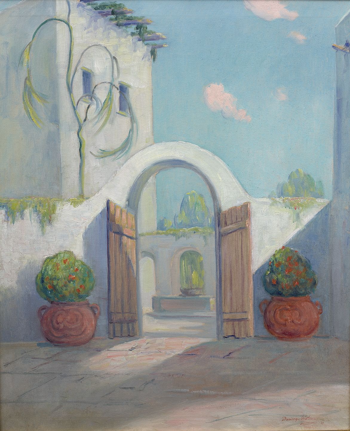 Dawson Dawson-Wastson (1864-1939), Spanish Governor's Palace, San Antonio, Texas, 1937