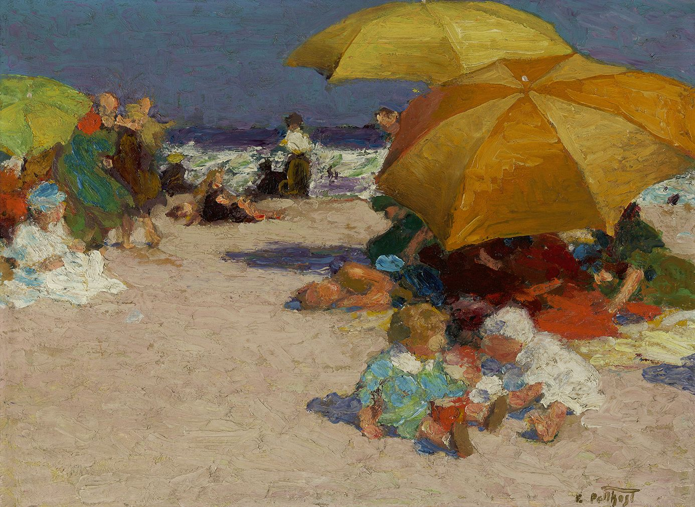 Edward Henry Potthast (1857-1927), On the Sands, circa 1912-1915