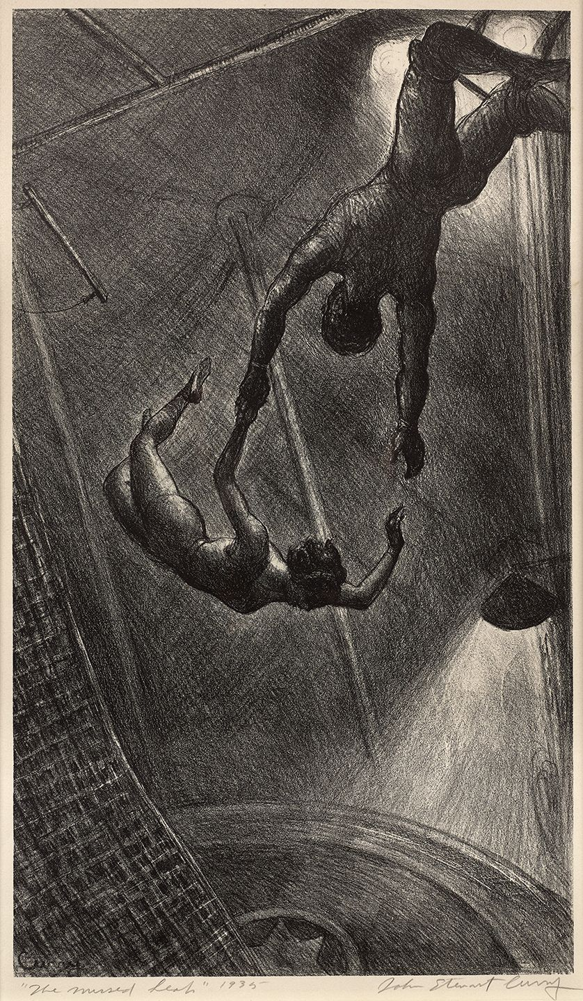 John Steuart Curry (1897-1946), The Missed Leap, 1935