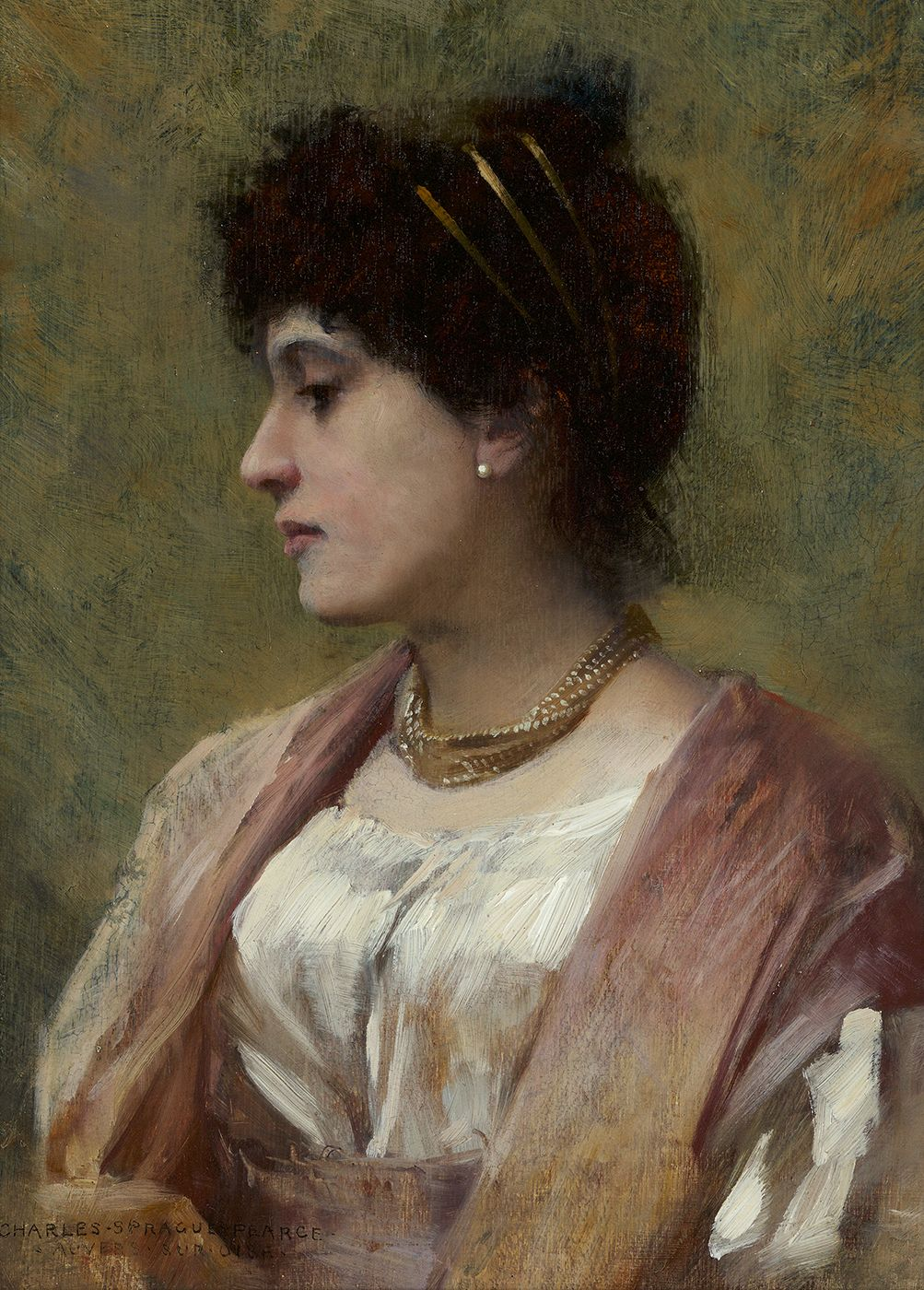 Charles Sprague Pearce (1851-1914)                              , A Lady of the Directoire