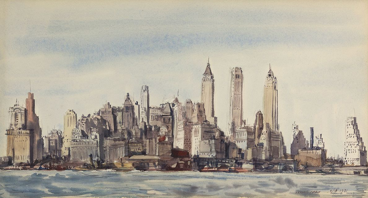 Reginald Marsh (1898 - 1954), New York Skyline, 1931