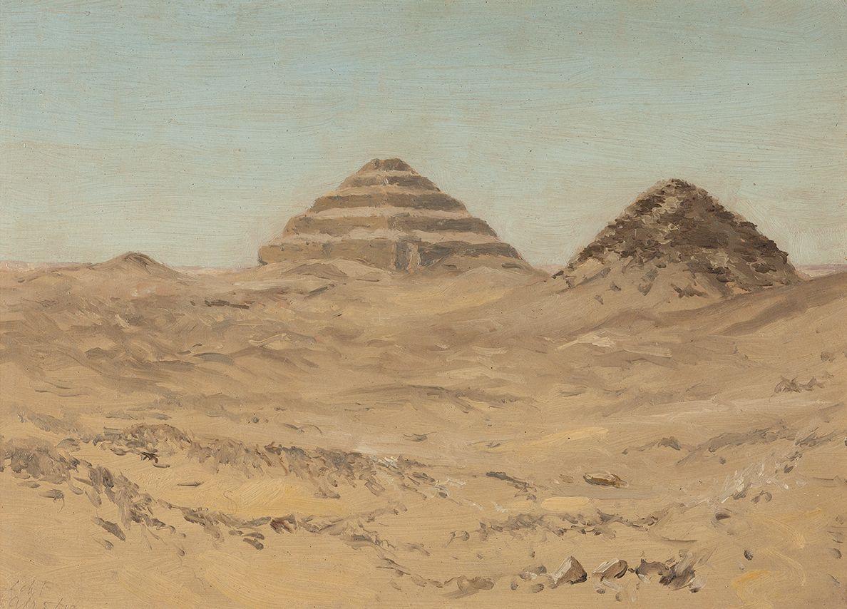 Lockwood de Forest (1850-1932), Pyramid of Sakkara, Egypt