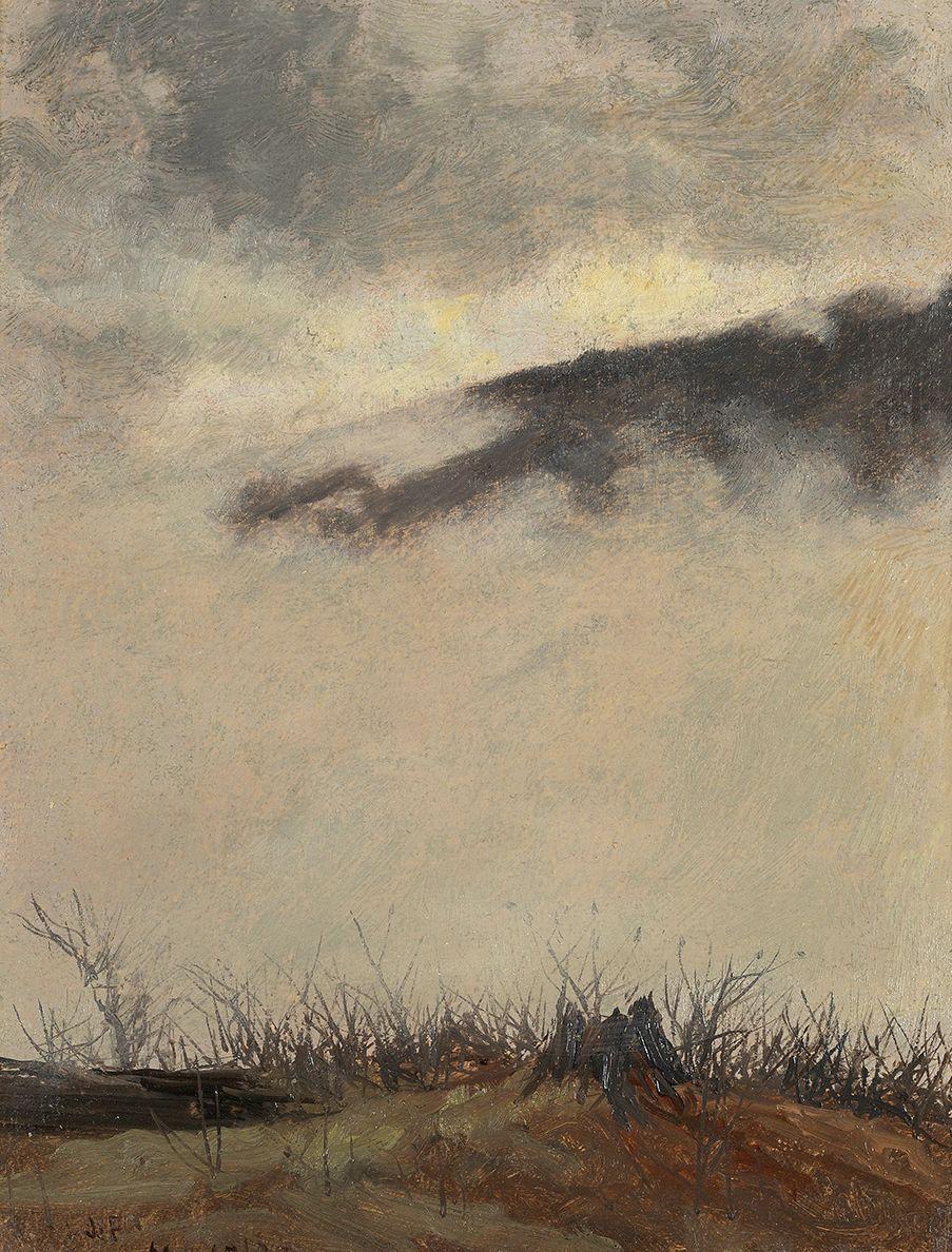 Lockwood de Forest (1850-1932), Mountain and Fog (Adirondacks, New York), 1875