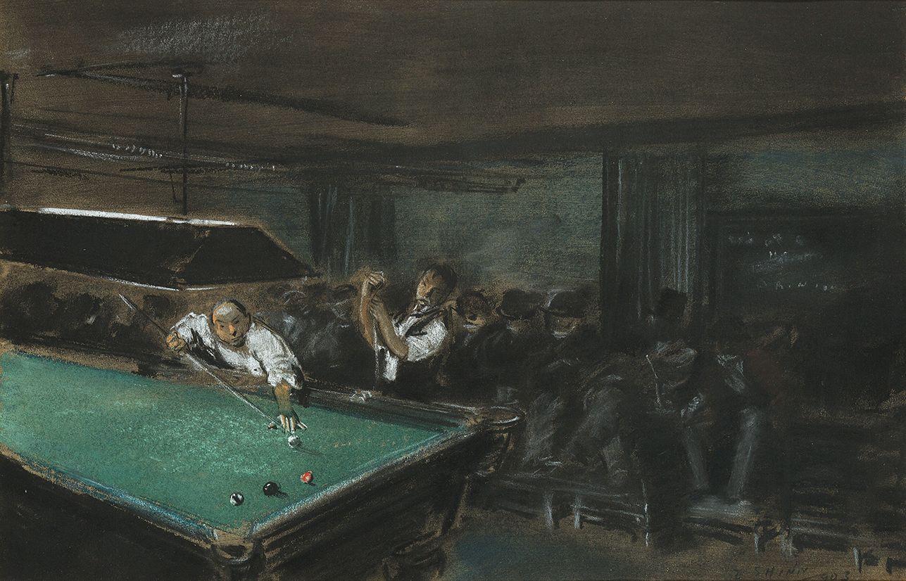 Everett Shinn (1876-1953), Pool Room