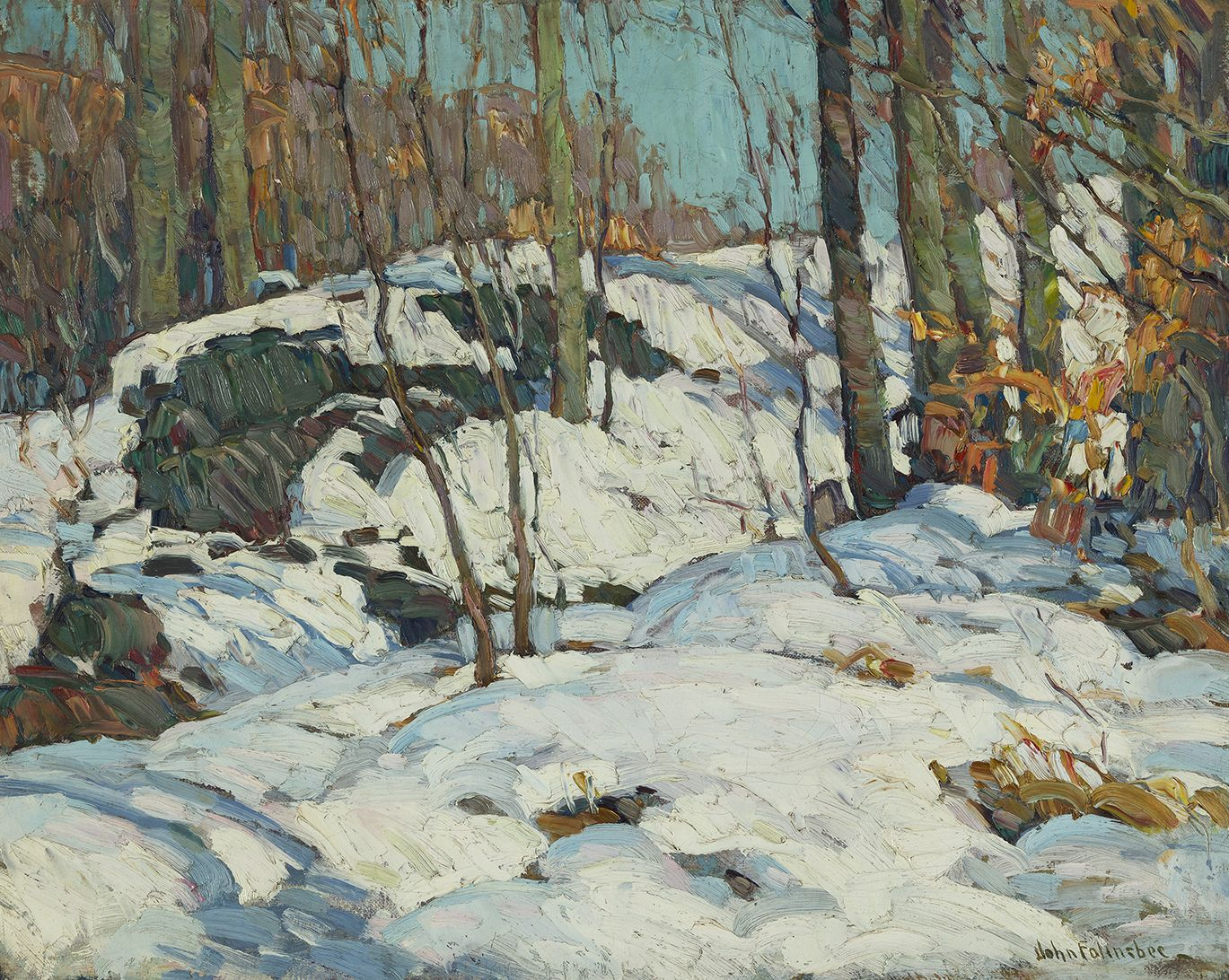 John Fulton Folinsbee (1892-1972), Winter Sunlight, 1919-1920