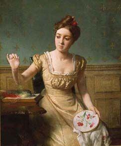 Seymour Joseph Guy (1824-1910), Needlepoint