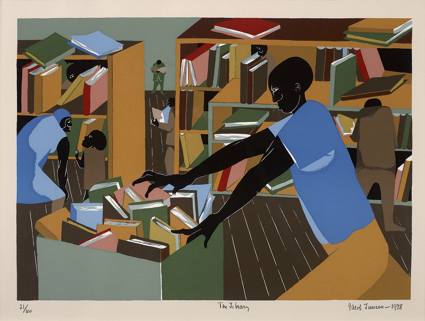 Jacob Lawrence (1917-2000), The Library, 1978
