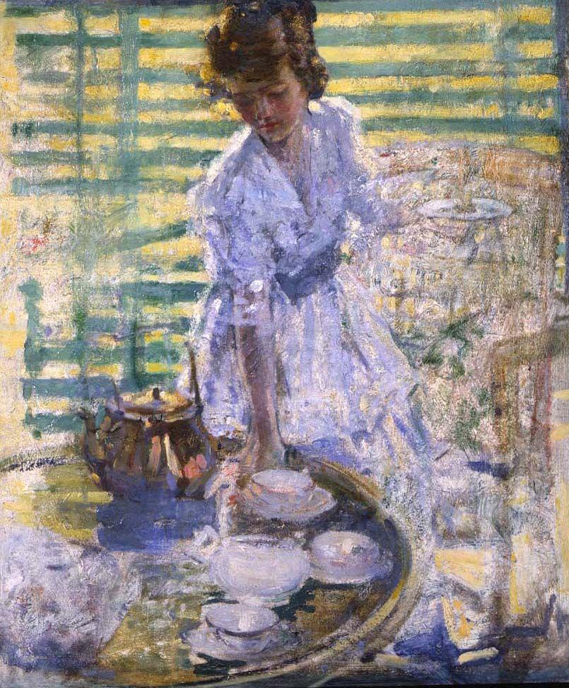 Richard E. Miller (1875-1943), Afternoon Tea, circa 1920