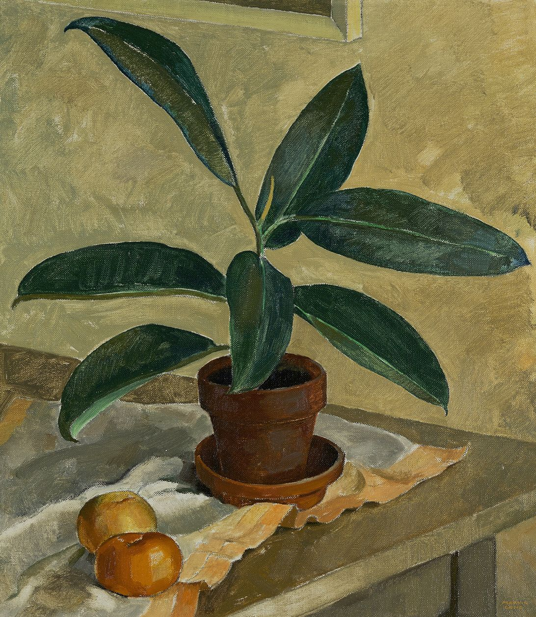 Marvin Cone (1891-1964), Rubber Plant, circa 1930s