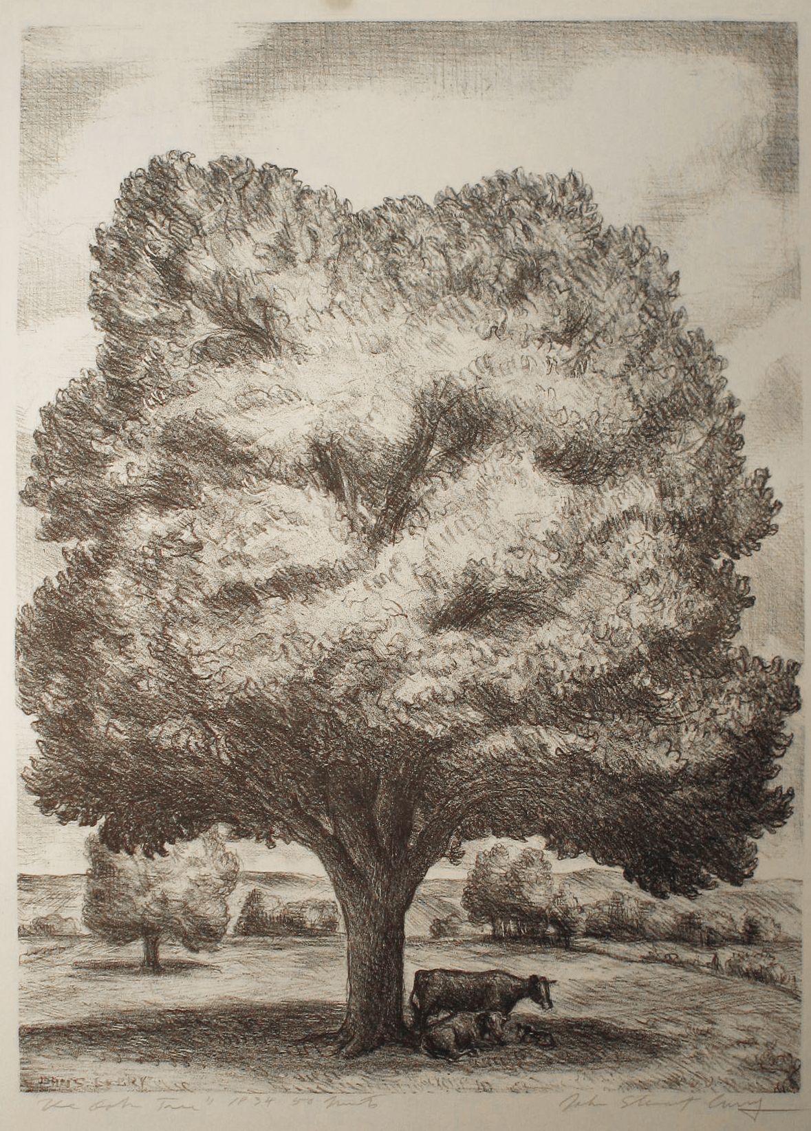John Steuart Curry (1897-1946) , The Oak Tree, 1934